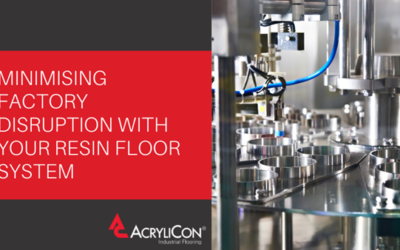 Minimising Factory Disruption With Your Resin Floor System