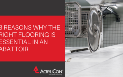 3 Reasons Why The Right Flooring Is Essential In An Abattoir